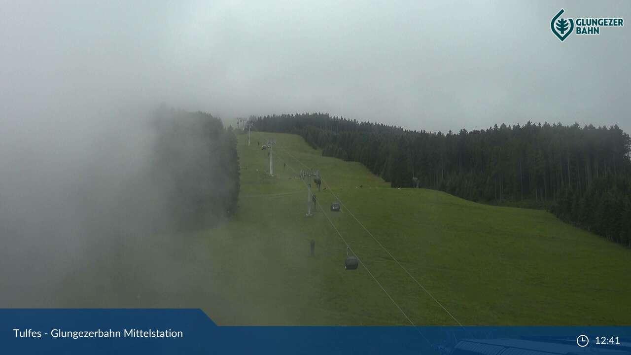 bergfex - Webcam Glungezerbahn Mittelstation - Glungezer - Cam  - Livecam